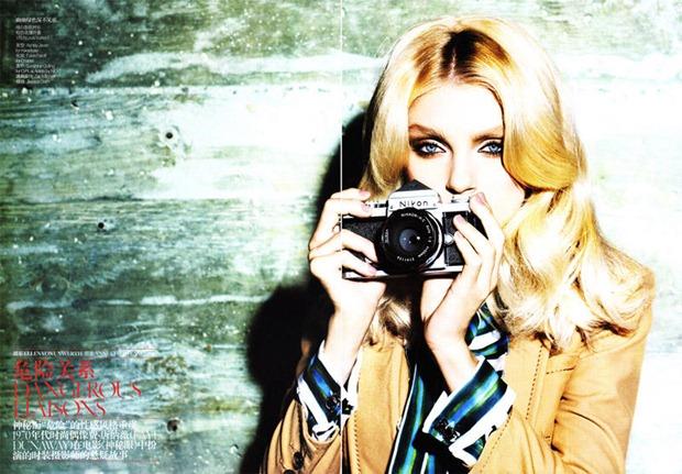 Jessica Stam Ojos Vogue-China