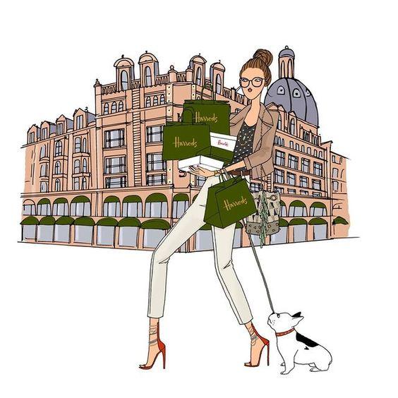 Angéline Mélin illustrations fashionistas