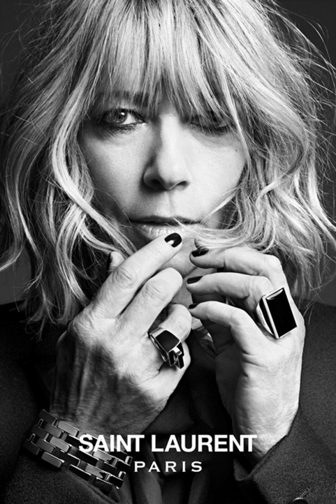hedi slimane saint laurent paris musi collection Kim Gordon (3)