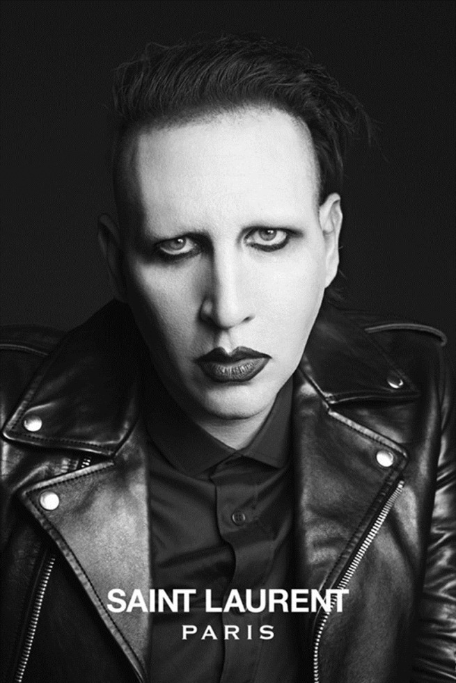 hedi slimane saint laurent paris musi collection marilyn manson
