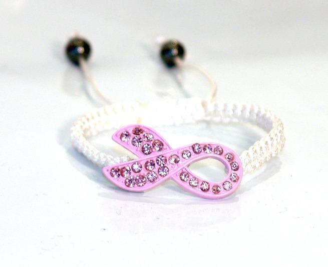Bracelet Ruban Rose, nouvelle initiative pour le cancer du sein lutte Barbarella