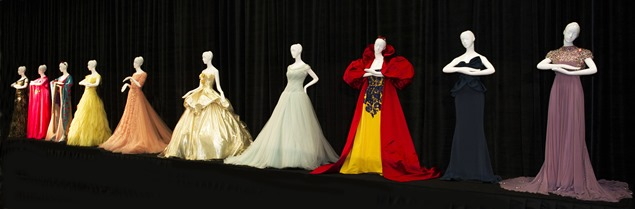 UNIQUE DESIGNER DRESSES INSPIRED BY DISNEY'S ICONIC PRINCESSES TO GO UNDER THE HAMMER IN AID OF GREAT ORMOND STREET HOSPITAL CHILDREN'S CHARITY. Showcased this weekend at Disney's D23 Expo in Los Angeles, USA, the bespoke gowns by world-famous designers, including Oscar de la Renta, Versace and Elie Saab, are expected to generate major interest from collectors across the globe when they are sold at world-leading auction house Christie's on 13th November 2013. © Disney
