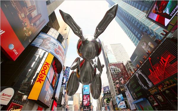 Guia de Nueva York lejos de NY Koons-Rabbit