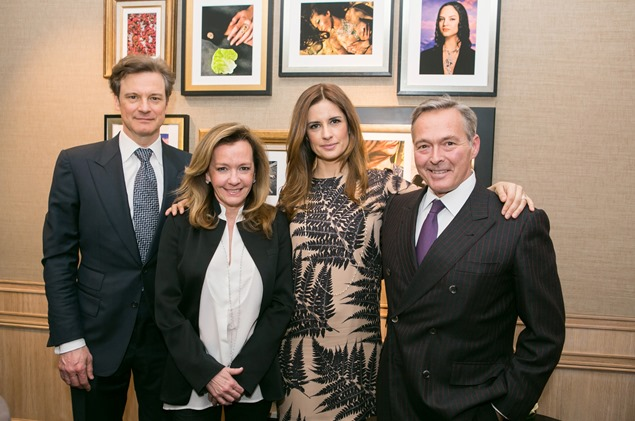 Colin and Livia Firth with Mr amd Mrs Scheufele