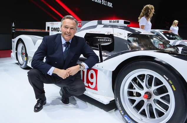 Karl-Friedrich Scheufele in front of the Porsche 919 Hybrid