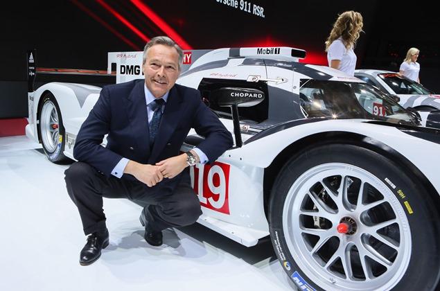 Karl-Friedrich Scheufele in front of the Porsche 919 Hybrid
