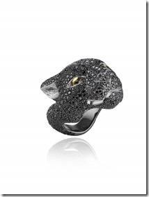 Chopard Black  Panther ring by Harumi Klossowska de Rola 820