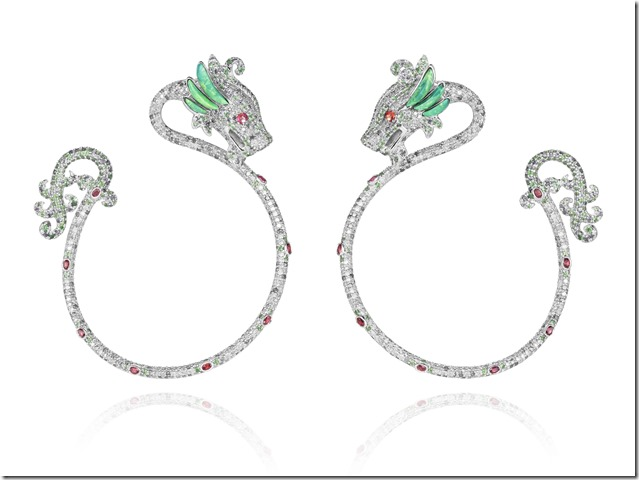 Chopard Dragon earrings by Harumi Klossowska de Rola 830406-