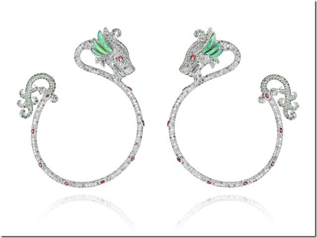Chopard Dragon earrings by Harumi Klossowska de Rola 830406-