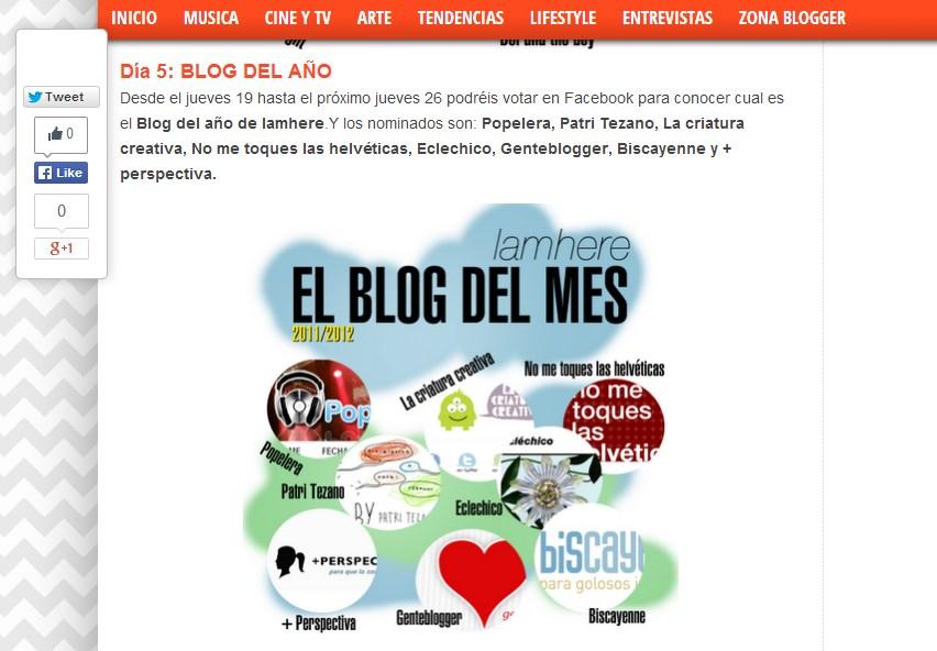 Blog del año