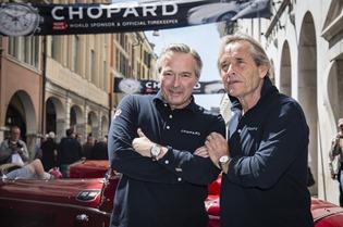 Karl-Friedrich Scheufele and Jacky Ickx, Porsche 550 Spyder SR Mille Miglia 2014, Brescia, 15.05.2014 (c) Alexandra Pauli for Chopard