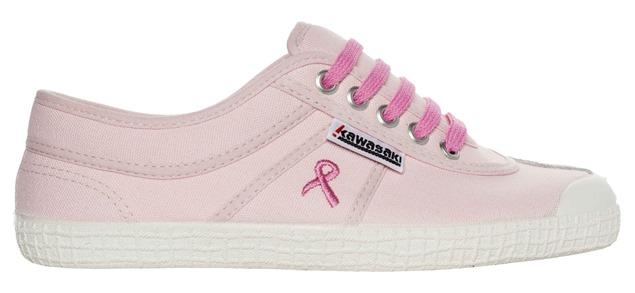 Kawasaki lanza unas zapatillas edición limitada contra el cáncer de mama