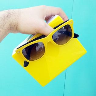 estilo diario gafas amarillas (detalle)
