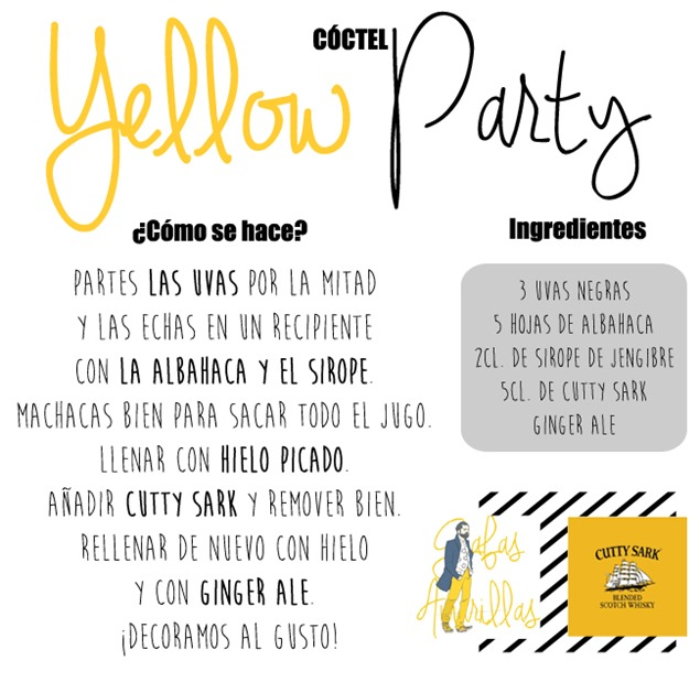 receta coctel yellow party