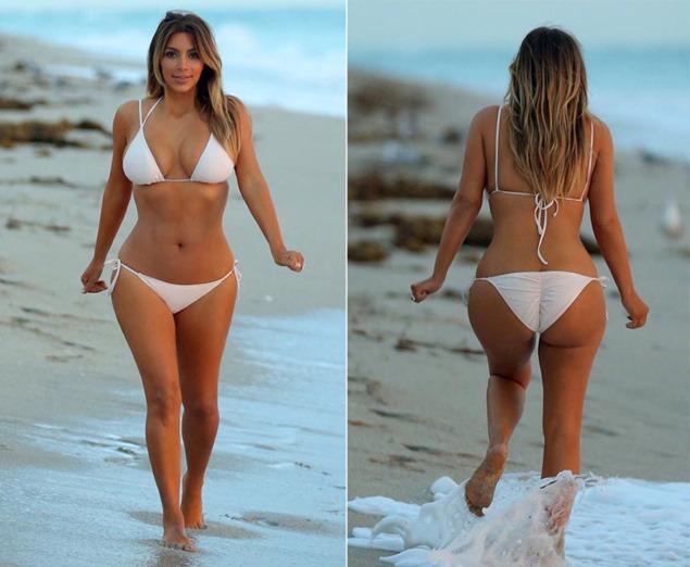 kim-kardashian-white bikini