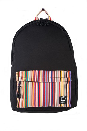 Terra Back Pack Black front view (Copy)