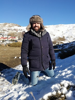 Estilo diario Un día en la nieve sierra nevada gafas amarillas (7)