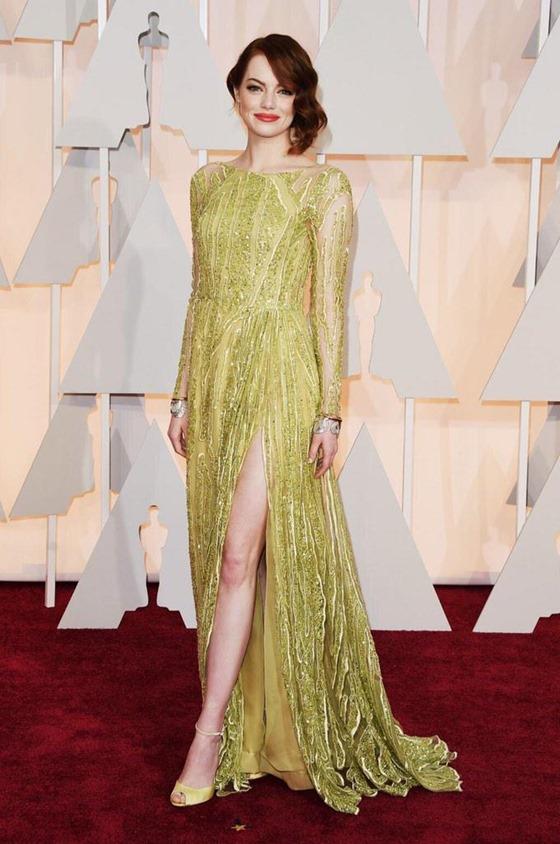 Emma Stone color oscar 2015