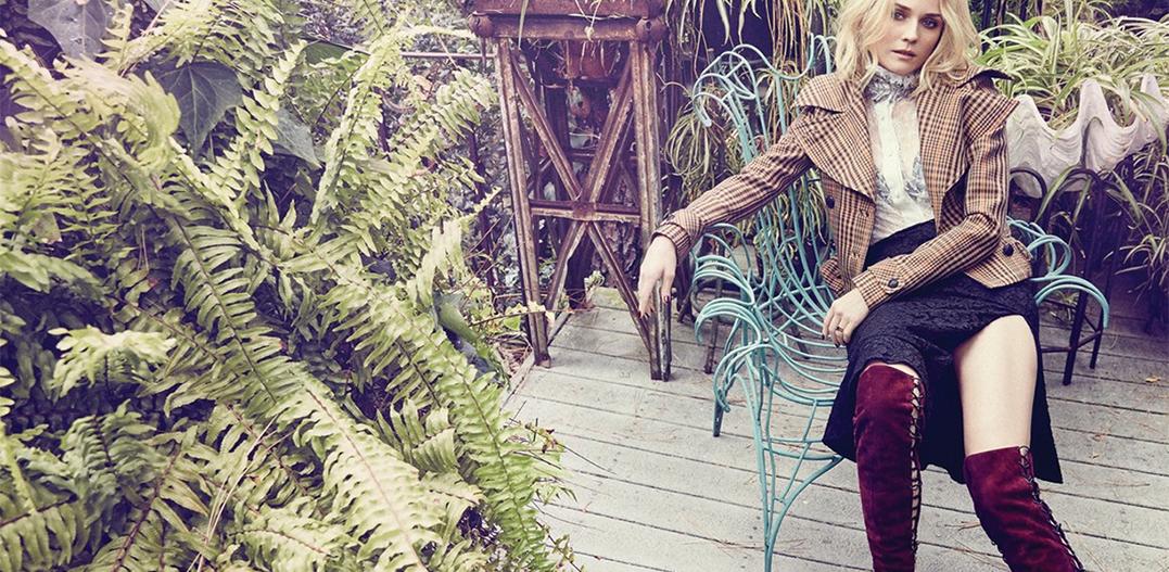 Diane Kruger en 3D en la portada de Elle Canada