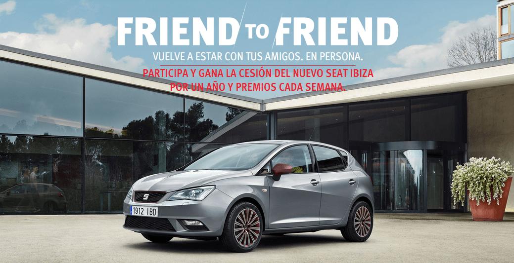 Conecta con tus amigos con SEAT Ibiza #FriendtoFriendbySEATIbiza