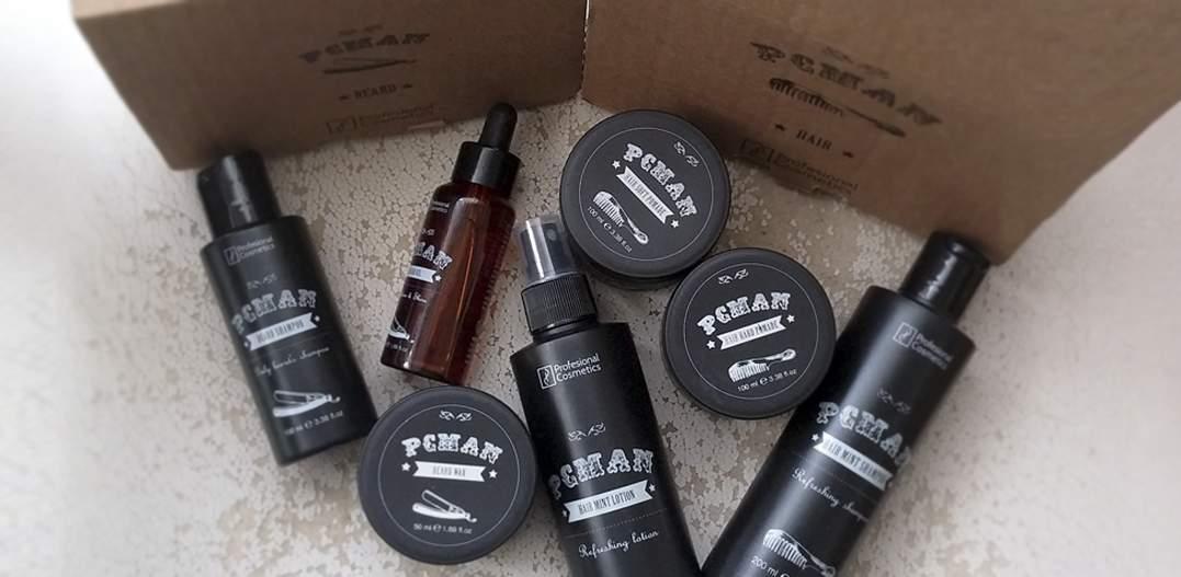 review pcman cabello barba hombre profesional cosmetics