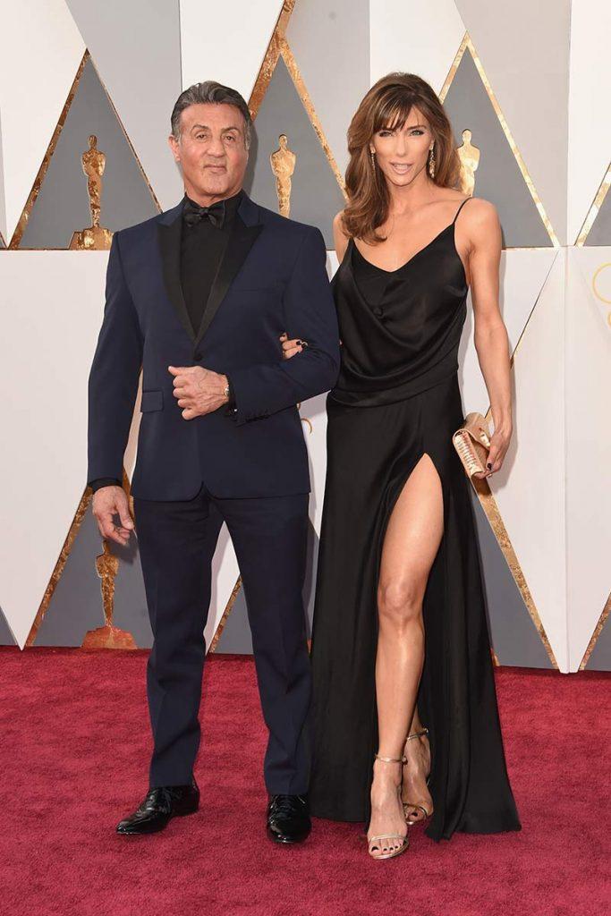 Jennifer Flavin sin peinar Oscars