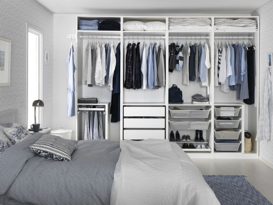 Un dormitorio ikea con vistas gafas amarillas for Dormitorio ikea