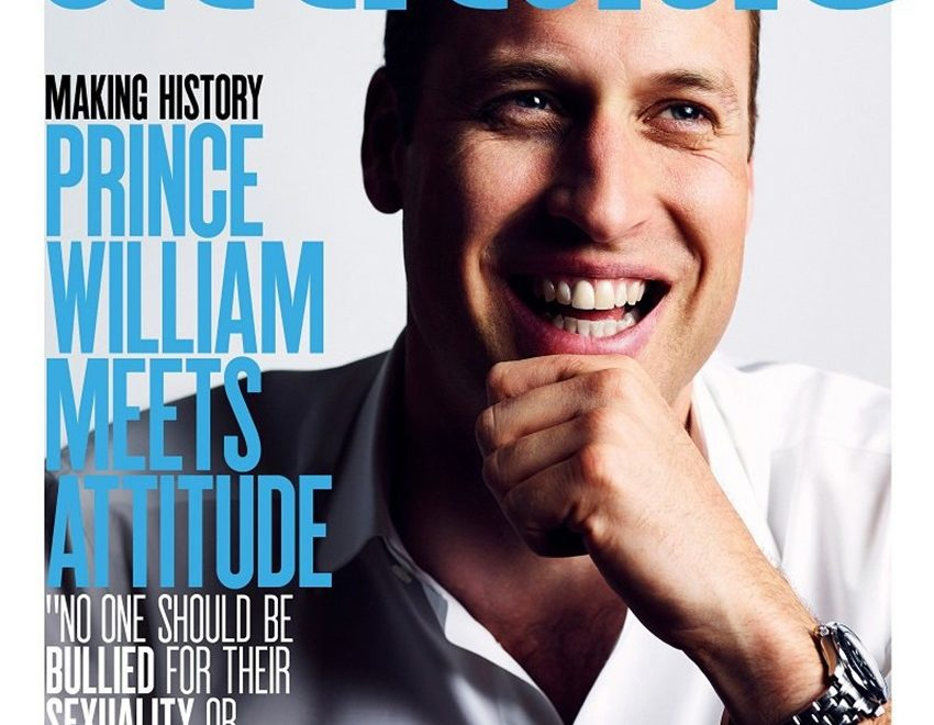 Portada: El Príncipe William en Attitude