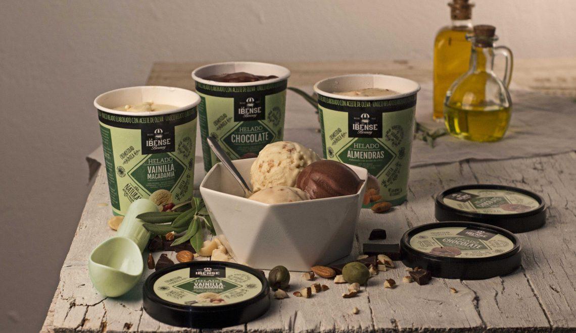 ラIbense Bornay 1は、オリーブオイルに作成したアイスクリームを作成し、 🍦