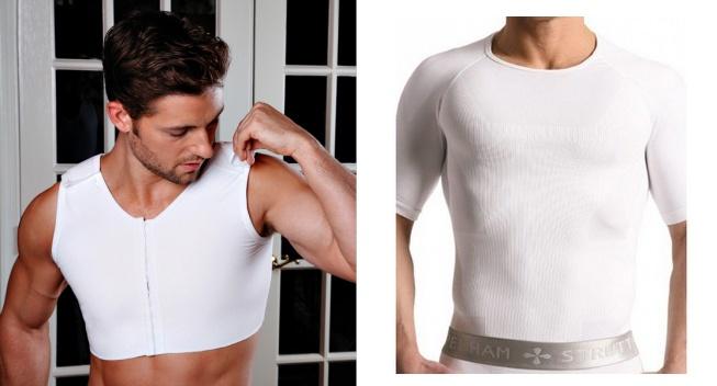 disimular los pechos de hombre (camisetas compresoras)