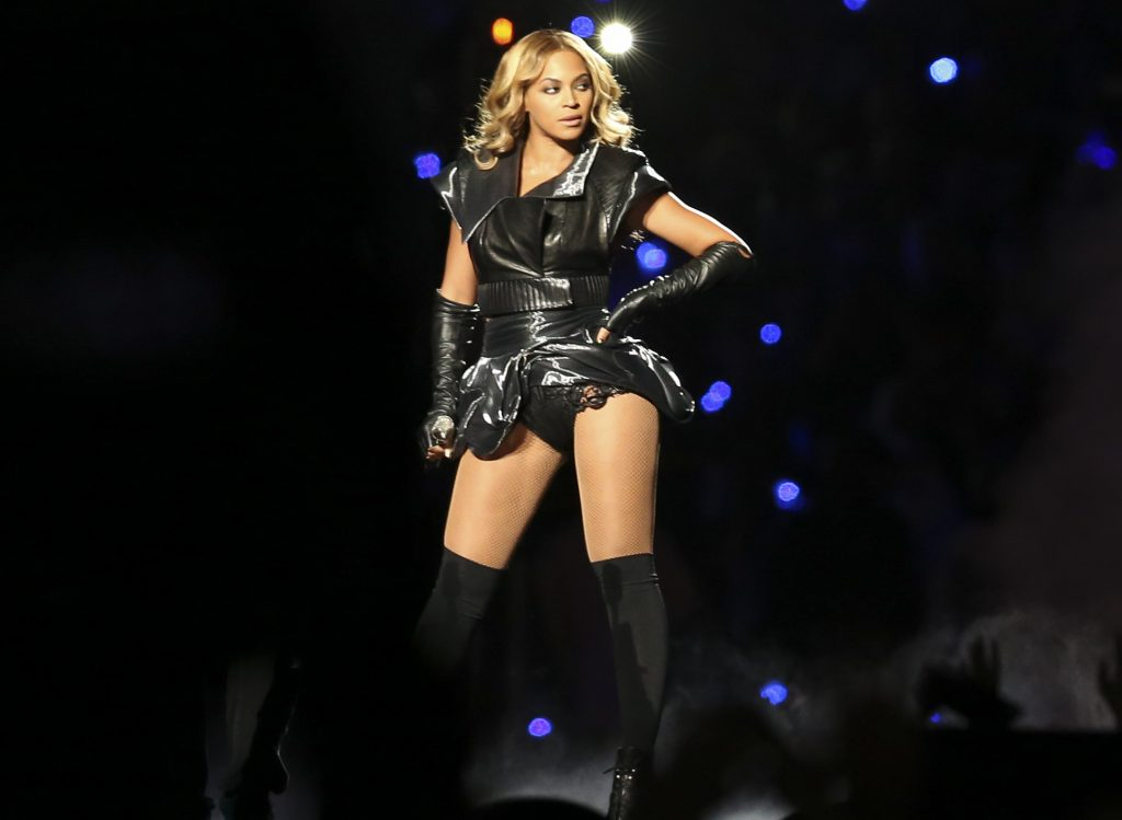 BEYONCE. Looks iconic Super Bowl