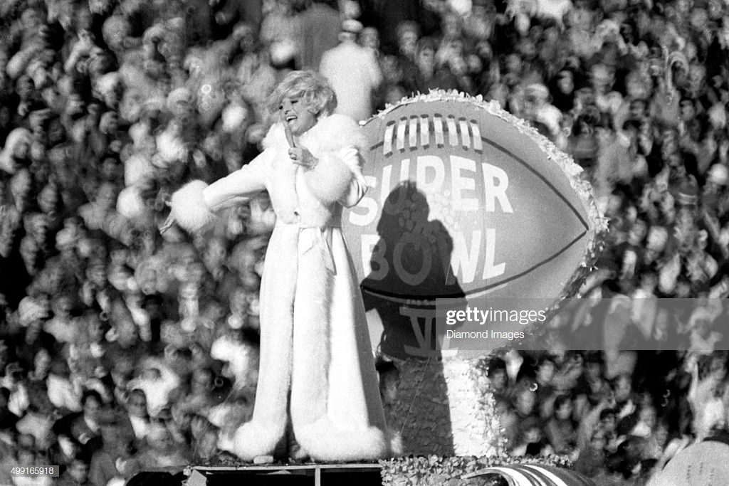 CAROL CHANNING. Looks iconic Super Bowl
