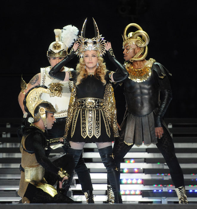 MADONNA. Looks iconic Super Bowl