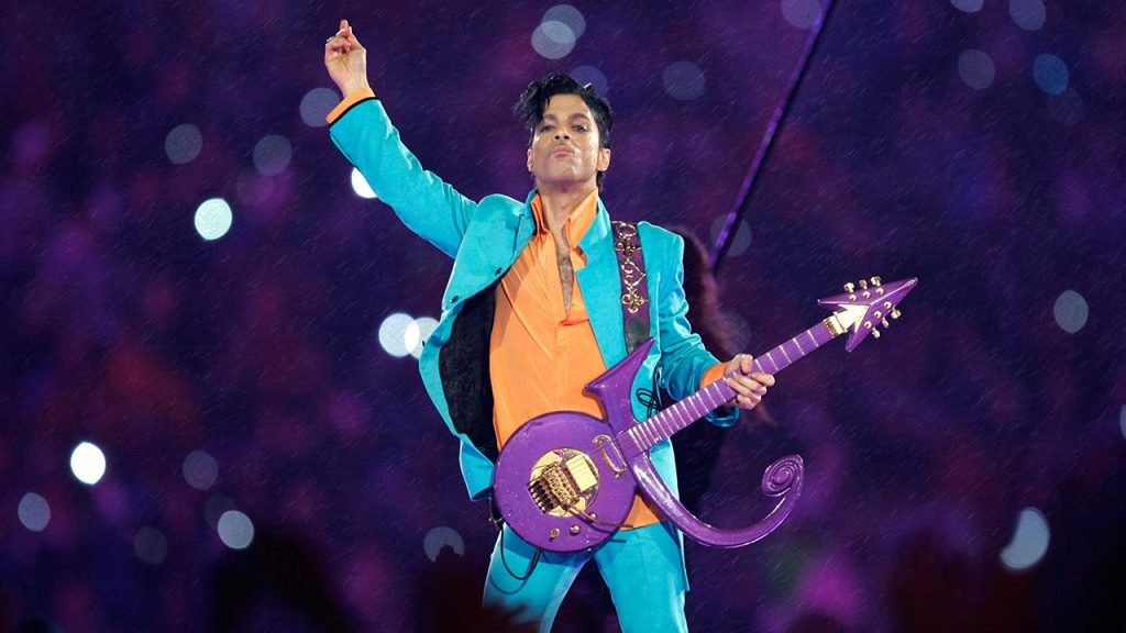PRINCE. Looks iconic Super Bowl
