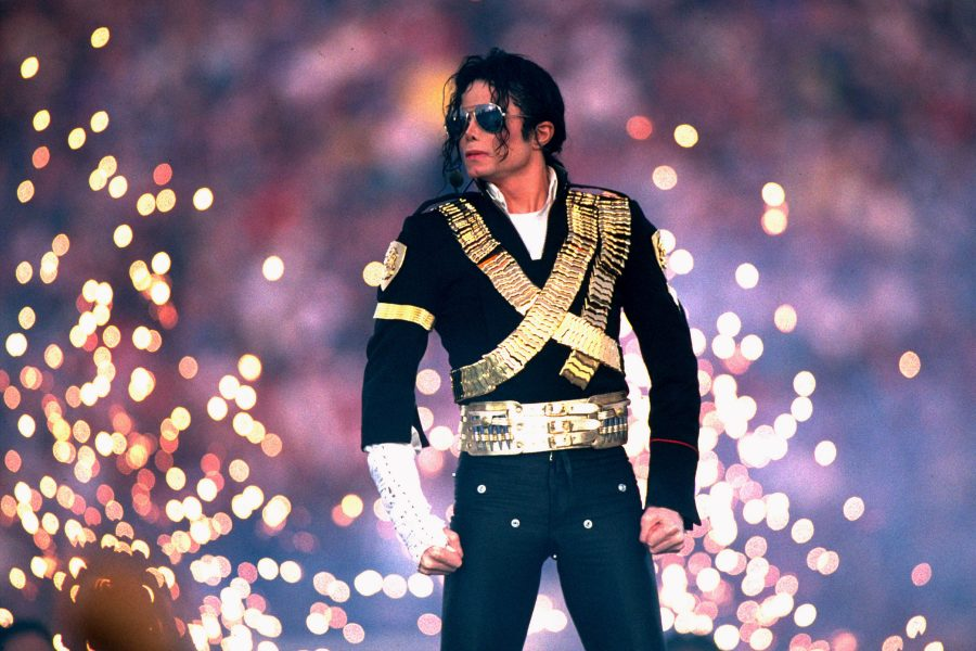 MICHAEL JACKSON. Looks iconic Super Bowl