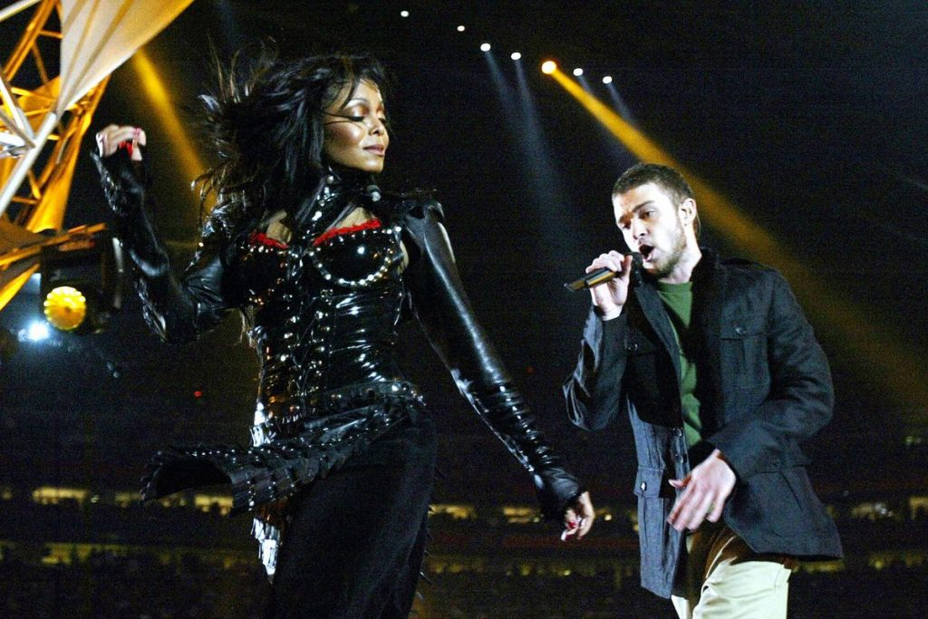JANET JACKSON. Looks iconic Super Bowl