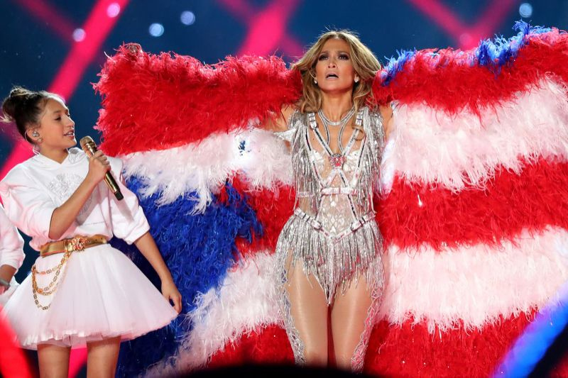 JLO. Looks iconic Super Bowl
