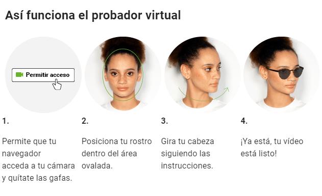 Probador virtual de gafas Míster Spex