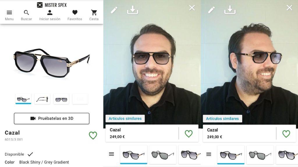 Probador virtual de gafas