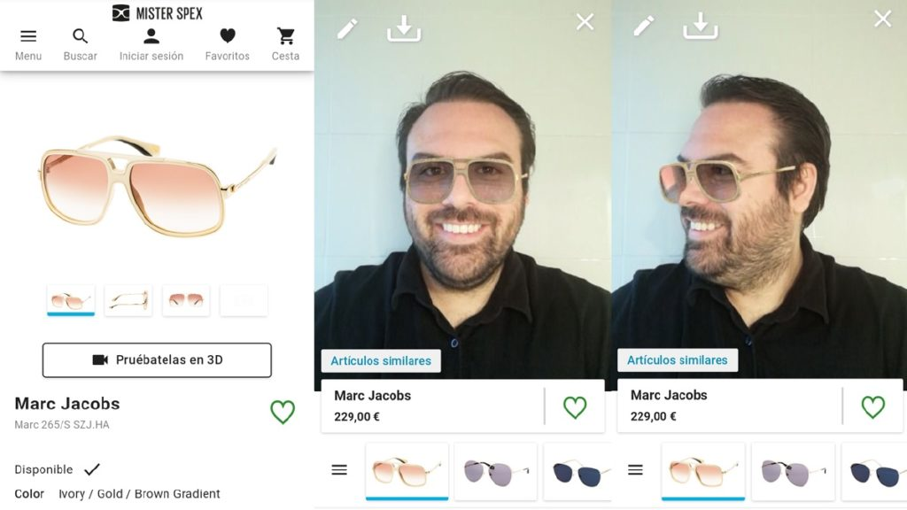 Probador virtual de gafas
